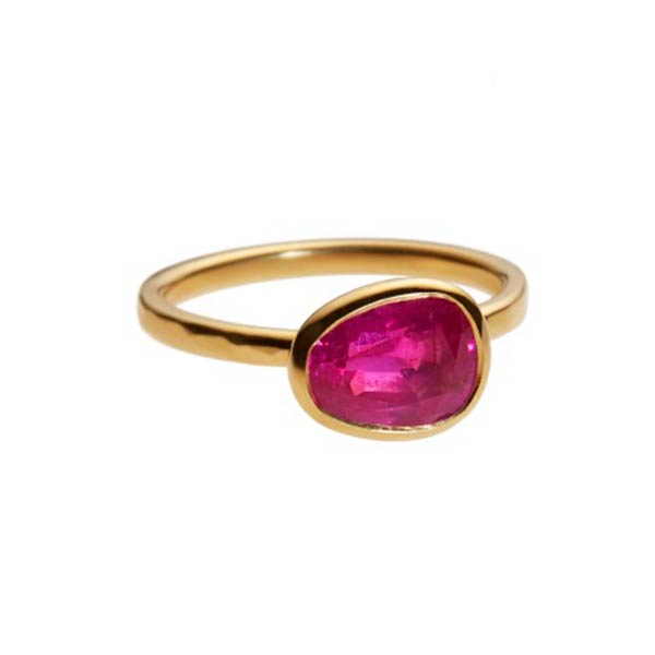 W1617 Ruby weighing 2.18 carats set in 22 carat gold